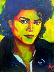 Michael Jackson, 30 x 42 cm, Acryl auf Papier