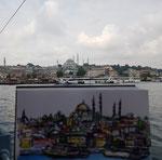 Urban Sketching in Istanbul - An der Galata Brücke