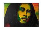 Bob Marley, 70 x 50 cm, Acryl auf Leinwand