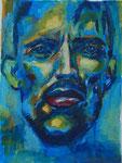 Portrait, 30 x 42 cm, Acryl auf Papier