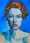 Portrait einer Frau, 30 x 42 cm, Acryl auf Papier