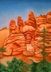 Bryce Canyon, Pastell auf Papier