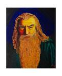 Gandalf, 50 x 70 cm, Acryl auf Leinwand