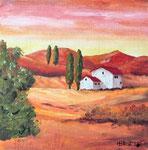 Toscanalandschaft  Acryl