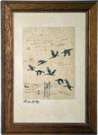 Zugvögel  Feder auf Pergament