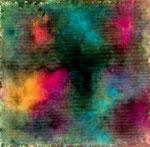 夜と光   2006 水彩 岩絵の具 和紙 100mmx100mm 作家蔵