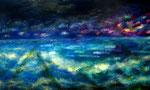 夜  2006 油彩、キャンバス 970mmx1620mm 作家蔵