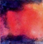 宝石と夜  2006 水彩 岩絵の具 和紙 100mmx100mm 個人蔵