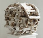 "Andreas Jonak, 2013 ""Untitled"", Plaster, Polyester, Steel, 65 cm x 75 cm x 75 cm"
