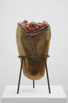 "Andreas Jonak, 2021, ""Egg"" (a), Steel, Ceramic, 50 cm"