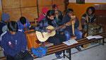 Die Musikgruppe im Gottesdienst