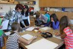 Die Schüler hatten die Aufgabe, Skizzen ihrer eigenen Motive zu entwerfen