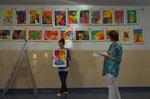 Jede(r) Schülerin/Schüler durfte sein Werk selber präsentieren