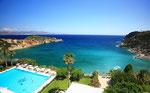 Panoramabild - Blick vom Hotel Istron Bay auf die Bucht