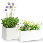 "Square Planter - Item#100101  W8"" x D8"" x H8""         Rectangle Planter - Item#100102   W8"" x D6"" x H15 3/4"""