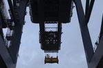 Containerbrücke im Hafen von Felixtowe (England)