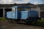 alte Eisenbahn im Containerhafen von Skogn