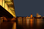 Sommerabend an der Deutzer Brücke