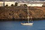 Segelboot im Hafen von Lanzarote
