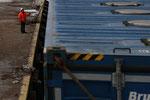 Verladung im Hafen von Skogn