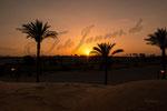 Sonnenuntergang über der Wüste Ägyptens