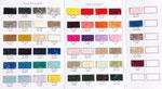 Farbpalette - alle diese Farben bestellen wir gerne! einfarbig 219€/ gemustert 239€/ mit Farbverlauf 259€