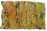 geological structures, 92x56 cm, Mischtechnik auf Papier