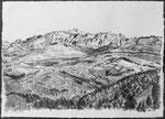 Säntis, Blick von den Höhen des Tösstals, 42x30 cm, chin. Tusche