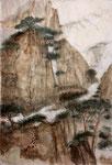 Landschaft mit Kiefern, chin. Tusche