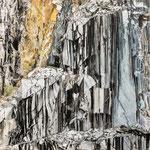 """""""cava"""", Marmorsteinbruch in den apuanischen Alpen, Carrara, Italien 90x90 cm chin. Tusche"""