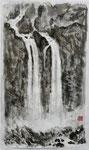 Wasserfall, chin. Tusche