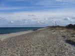 Strand von Börgerende, Richtung Warnemünde