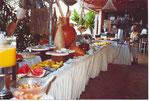 Das Superfrühstücksbuffet im Hotel in Salvador