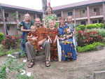 family picture in the YWAM courtyard