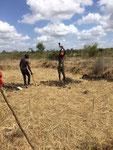 2. Oktober 2017 beginn der Grabarbeiten für die Abwassergrube