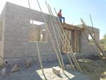 Beginn der Dachkonstruktion 23. Oktober 2017