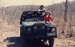 In viaggio verso un campo perso nel bush del Mozambico (area dell'antico regno di Gaza)