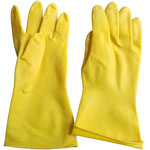 Series C2303YE Industrial Latex Gloves with Diamond-Embossed Palm, 31cm Length