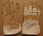 L1100 (Split Pigskin Leather + Beige Twill)