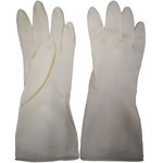 Series C2312WE Homework Latex Gloves with Diamond-Embossed Palm & Rose-Embossed Back, 29cm Length