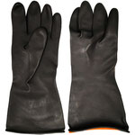 Series C2300E Industrial Latex Gloves with Diamond-Embossed Palm, 31/35cm Length