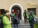 Start zur Wanderung vor unserer Unterkunft Gästehaus St. Benedikt