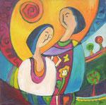 love II, Acryl auf Leinwand, 30 x 30 cm, Jennifer Petz
