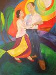 .  love story, Acryl auf Leinwand, 100 x 70 cm, Jennifer Petz