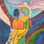 love III, Acryl auf Leinwand, 30 x 30 cm, Jennifer Petz