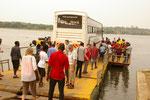 2016 Unsere 2. Safari mit den Kindern der 5.+6. Klasse Nilüberfahrt
