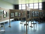 Der Ausstellungsraum in der Gethsemane-Kirche