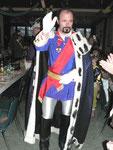 König Ludwig der ll von der KaGe Elferrat hält Würzburg und der Welt einen Spiegel vors Gesicht
