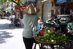 straatbeeld Franse buurt Hanoi