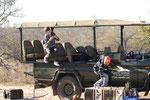 onze jeep tijdens de gamedrive